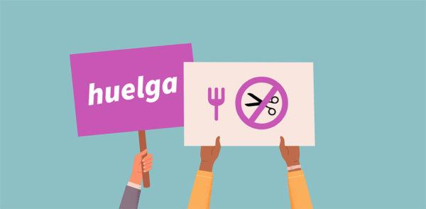 Huelga en los comedores escolares de la CAV los días 21, 27 y 29 de octubre