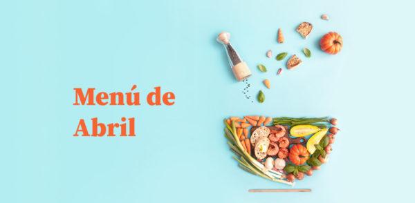Menú del comedor para abril
